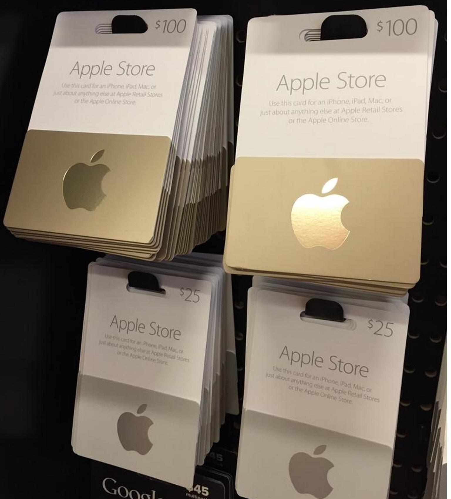 Carte Cadeau Apple.Apple Store De Nouvelles Cartes Cadeaux Dorees Et Argentees