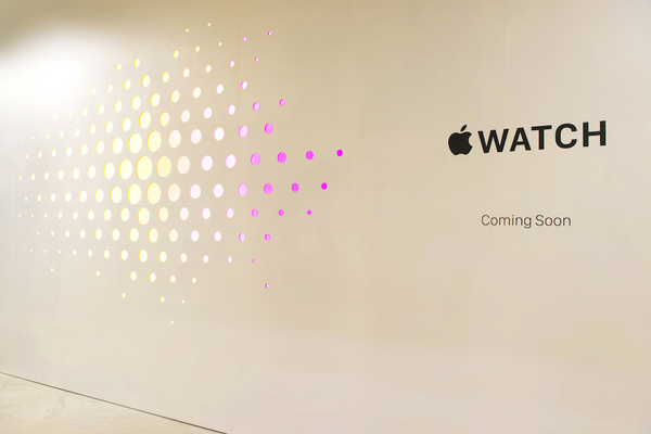 Apple Watch Shop Barricade Reveal At Selfridges London