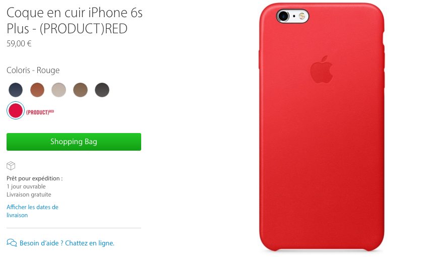 coque iphone 6 plus cuir rouge